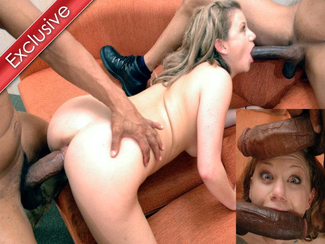 InterracialPass.com: Tiny Alex takes 2 feet of Black Meat up her Ass!!! - Alex [SD/2017]