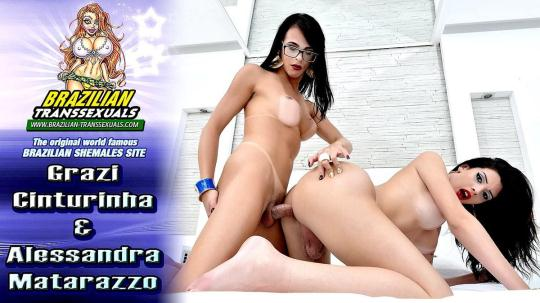 Brazilian-Transsexuals: Alessandra Matarazzo and Grazi Cinturinha (FullHD/1080p/1.38 GB) 06.01.2017