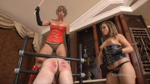 ClubDom.com [Goddess Brianna and Mistress Carmen - Males are for Caning] HD, 720p