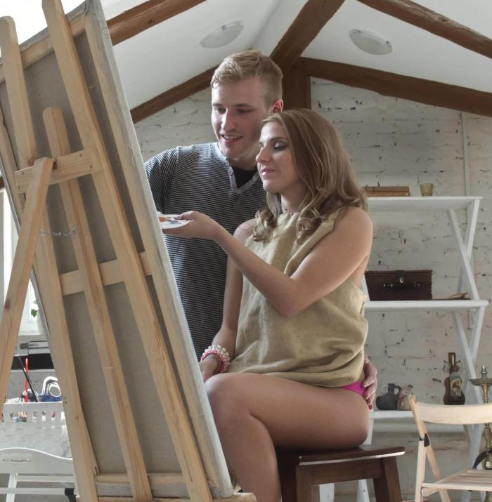 Amateur - Sexy Teen Painter Is A Work Of Art HD [FullHD 1080p] - Wankz
