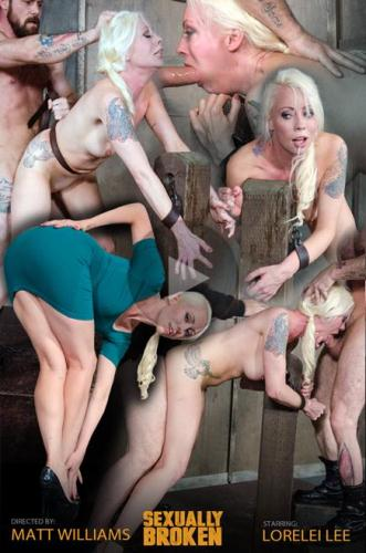 SexuallyBroken.com [Lorelei Lee is bound to the fucking post! Brutal face fucking and deep uterus banging sex!] HD, 720p