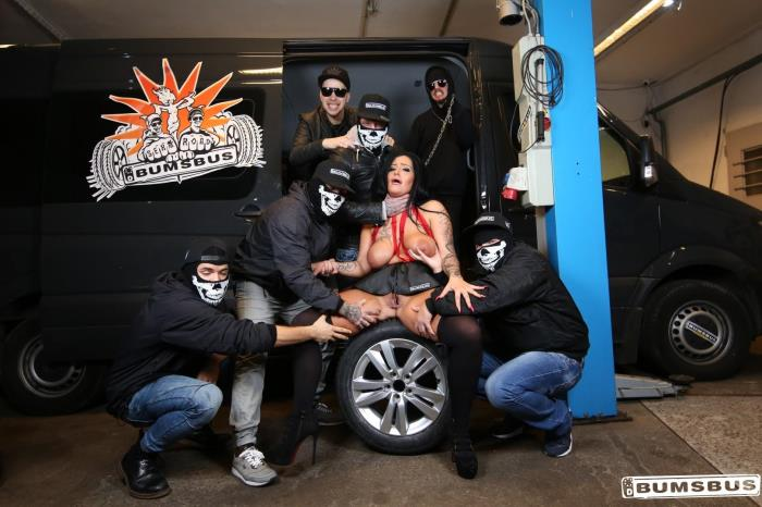 Porndoepremium.com: Wild gangbang in the bus with hot busty German brunette Ashley Cumstar - Ashley Cumstar [FullHD/2017]