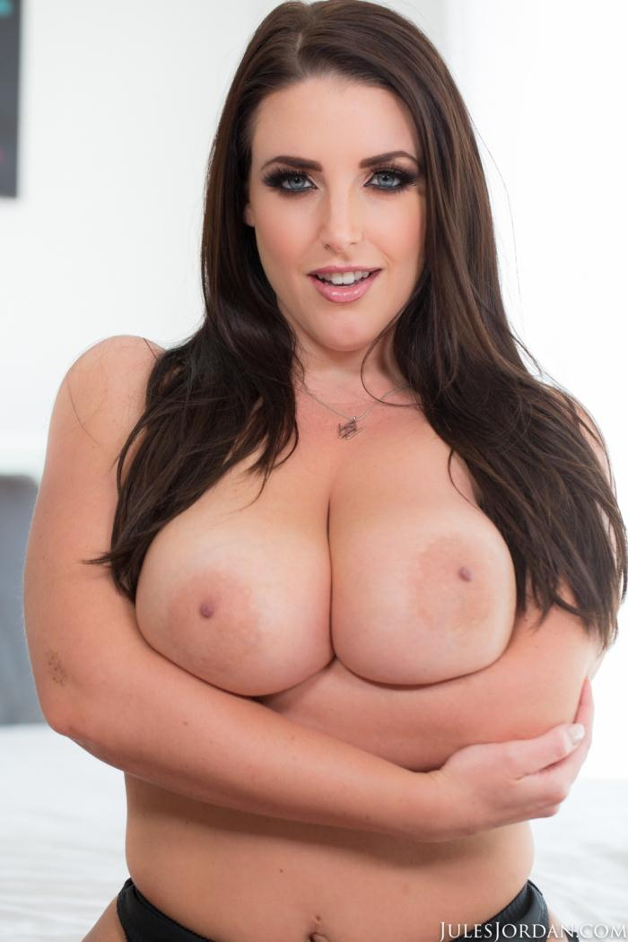 JulesJordan - Angela White - Angela White Shows Off Her Big Natural 42G Tits, This Aussie Gets A Cock In Her Outback!  (360p / SD)