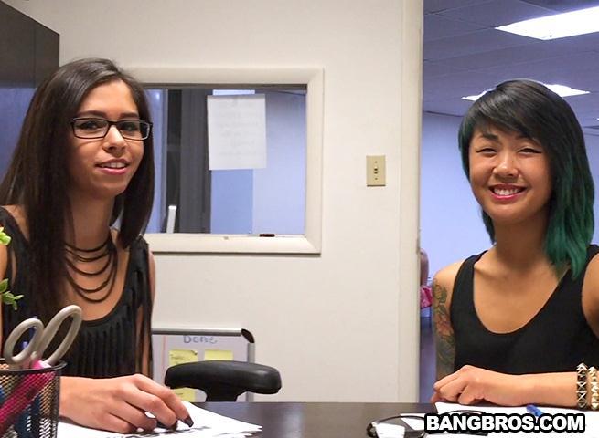 BlowJobFridays.com / BangBros.com - Taylor Reed, Saya Song - Double Header! [SD, 480p]