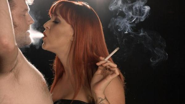 Mistress Amber Leigh smokes her slave (FullHD, 1080p)
