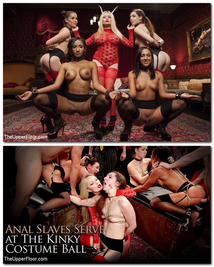 TheupperFloor/Kink: Aiden Starr, Amara Romani, Sadie Santana, Kasey Warner, Ember Stone - Anal Slaves Serve Kinky Costume Ball  [SD 540p] (654 MiB)
