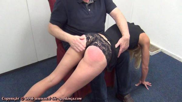 Jentina's first spanking - Real-Life-Spankings.com (HD, 720p)