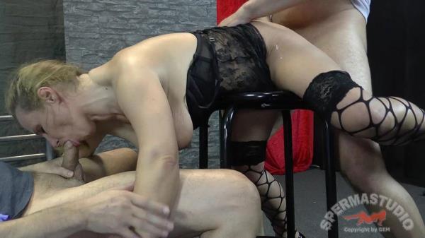 Gangbang: Slut Steffi - Sperma-Studio 1080p