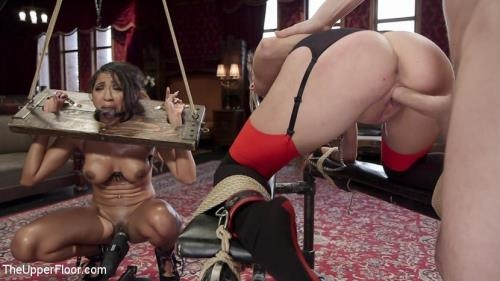 Kacie Castle, Sadie Santana - The Sex Toy and The Whipping Girl (24.02.2017/TheUpperFloor.com / Kink.com/HD/720p)