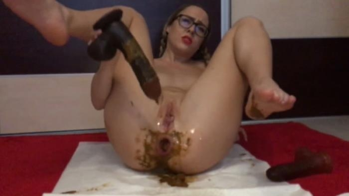 A lil scat nympho - Extreme Scat Dildo (Scat Porn) FullHD 1080p