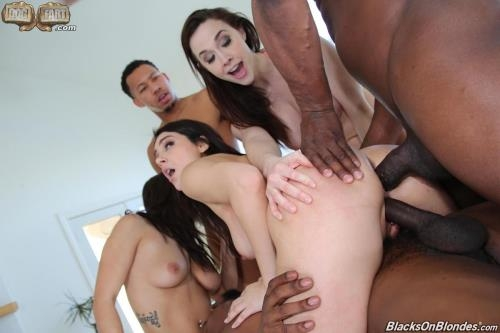 BlacksOnBlondes.com / DogFartNetwork.com [Chanel Preston, Keisha Grey, Valentina Nappi - Orgy with Anal Sex] SD, 432p