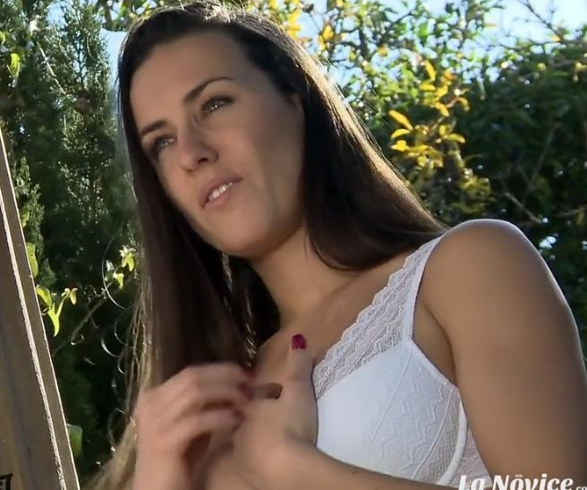 LaNovice - Busty brunette Mea Melone gets photographed and fucked outdoors [SD / 480p / Big Tits]