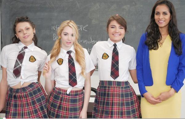 BFFS: Abby Lee Brazil, Adria Rae, Ivy Jones, Megan Sage  - AfterSchoolDetention (2017) HD  720p