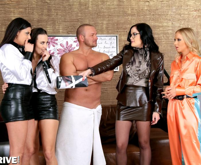 Upperclassfuckfest/SinDrive: Dolly Dior, Coco de Mal, Mea Melone, Kiara Lord - Can We Just Get Down And Dirty? Can We Just Go Nuts And Nasty? Naughty, Nympho, Nipples, Nitro!!!  [HD 720p]  (Lesbians)