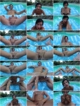 Explicite-Art: Amel Annoga - French brunette Amel Annoga jerk off instructions by the swimming pool (2017/HD)