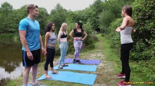 PureCFNM: Emma Leigh, Lola Rae, Satine Spark, Tina Kay - Outdoor Yoga (FullHD/1080p/738 MB) 12.02.2017