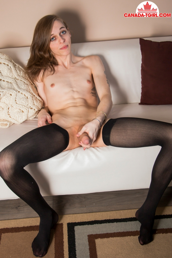 Canada-TGirl.com - Luna Loveless - Enjoys Her Dildo! [HD 720p]