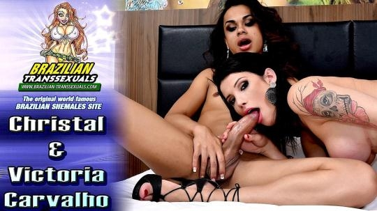 Brazilian-Transsexuals: Christal & Victoria Carvalho (FullHD/1080p/1.56 GB) 04.02.2017