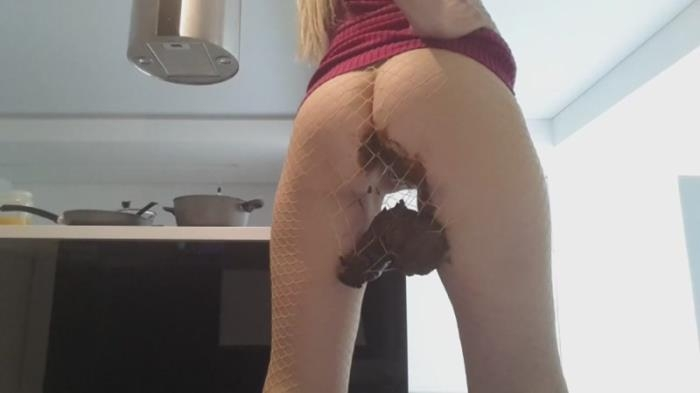 Blonde Dress Fishnets Bomb Poop (Scat Porn) FullHD 1080p