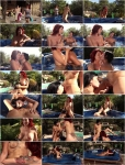 Explicite-Art: Amel Annoga, Julie Valmont - Amel Annoga and Julie Valmont lesbian in the jacuzzi. Long version video (HD/2017)