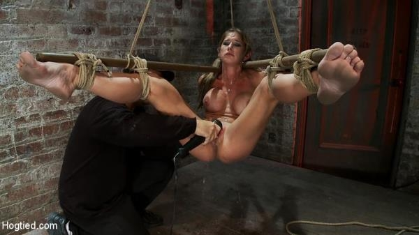 Hot MILF suffers the most painful bondage Category 5 suspension made to squirt all over the place - Hogtied.com / Kink.com (HD, 720p)
