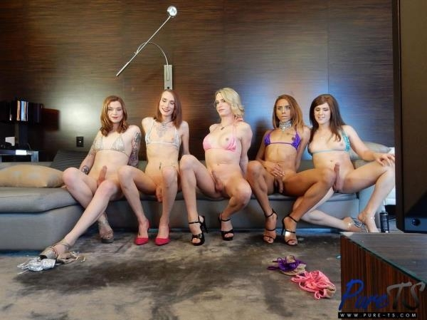 Bailey Love, Joss Amor, Natalie Anderson, Nikki Vicious, Taryn Elizabeth - Massive Bareback Orgy [HD 720p]