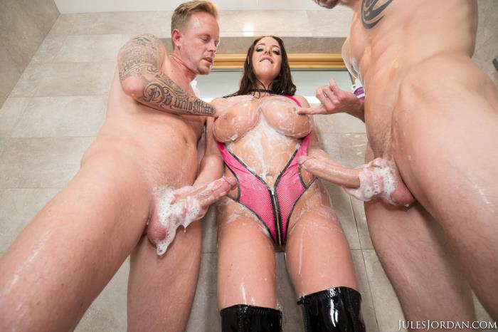 JulesJordan.com - Angela White - This Big Tit Aussie Gets Dp'd! [FullHD 1080p]