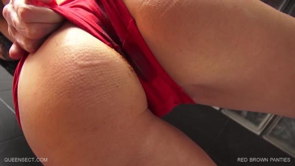 Queensect - Red Brown Panties - Fboom Scat (FullHD, 1080p)