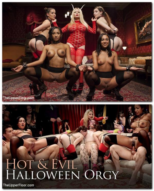 Aiden Starr, Amara Romani, Sadie Santana, Kasey Warner, Ember Stone - Evil and Hot Halloween Orgy  (SexAndSubmission/Kink/SD/540p/577 MiB) from Rapidgator