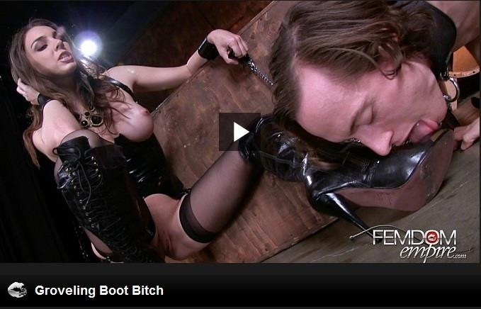 Tiffany Tyler - Groveling Boot Bitch / 14 Feb 2017 [FemdomEmpire / HD]