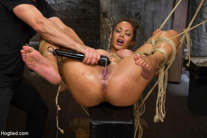 Unfuckingbelievable Huge Natural Tits and Squirting Snatch (Hogtied) HD 720p
