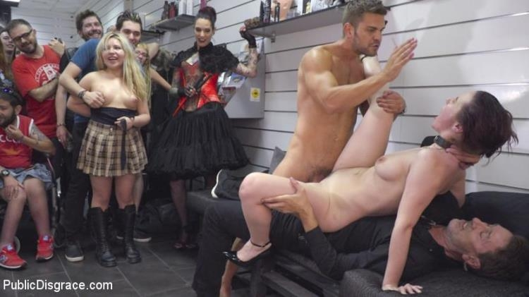 Steve Holmes, Juan Lucho, Silvia Rubi, Aragne Spicy - Spicy Submissive Spanish Slut / 06.02.2017 [PublicDisgrace / HD]