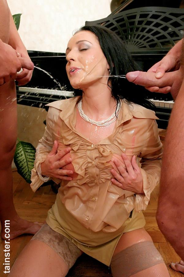 Amateur [SD Tainster.com] A Flurry of Cum and Piss!