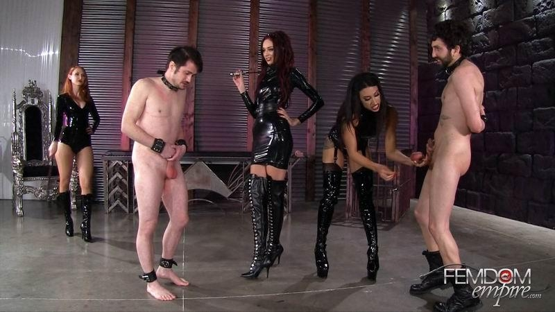 FemdomEmpire.com: Kendra James, Sablique Von Lux, Goddess Tangent - Mistress Pain Party [FullHD] (1.53 GB)