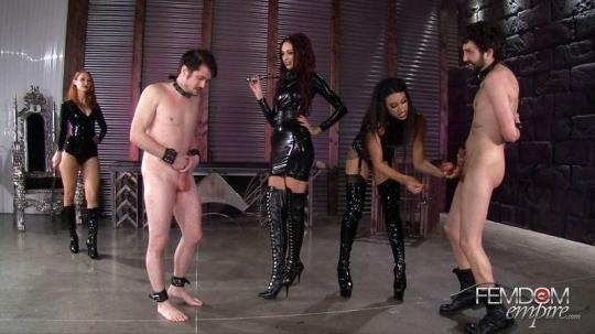 FemdomEmpire: Kendra James, Sablique Von Lux, Goddess Tangent - Mistress Pain Party (FullHD/1080p/1.53 GB) 15.02.2017