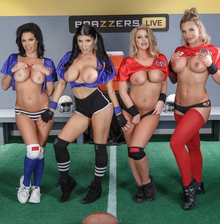 Phoenix Marie, Veronica Avluv,Romi Rain,Brooklyn Chase - The Brazzers Halftime Show II  [HD 720p]