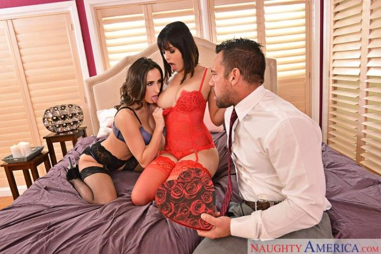 Ashley Adams, Violet Starr - Threesome Sex / 14 Feb 2017 [NaughtyAmerica, 2ChicksSameTime / SD]