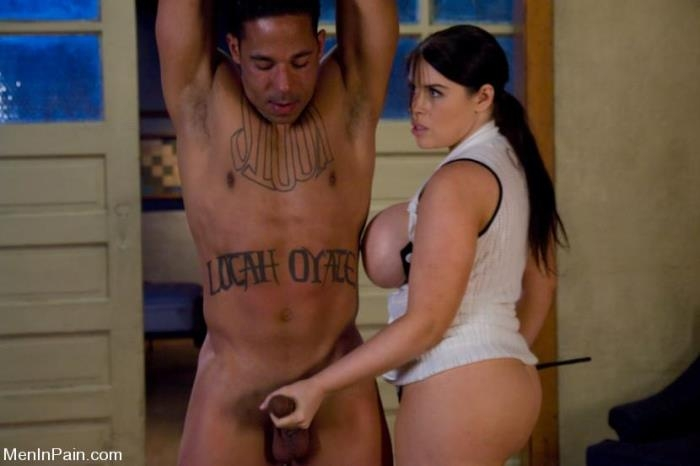 Daphne Rosen - Dominant Tease feeds slave boy Tits and Ass (MenInPain) HD 720p