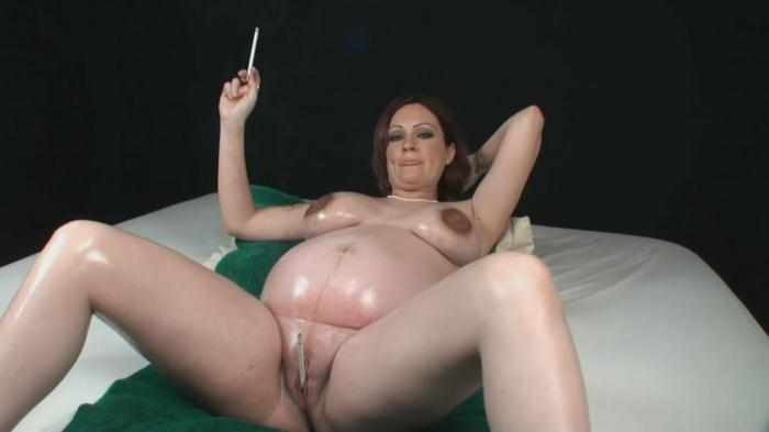 Lacy King - Pregnant smoking girl (Clips4sale) HD 720p