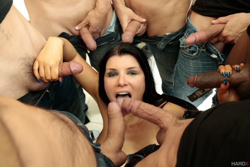HardX: Romi Rain - 10 Guy Massive Facial  [SD 400p] (293 MiB)