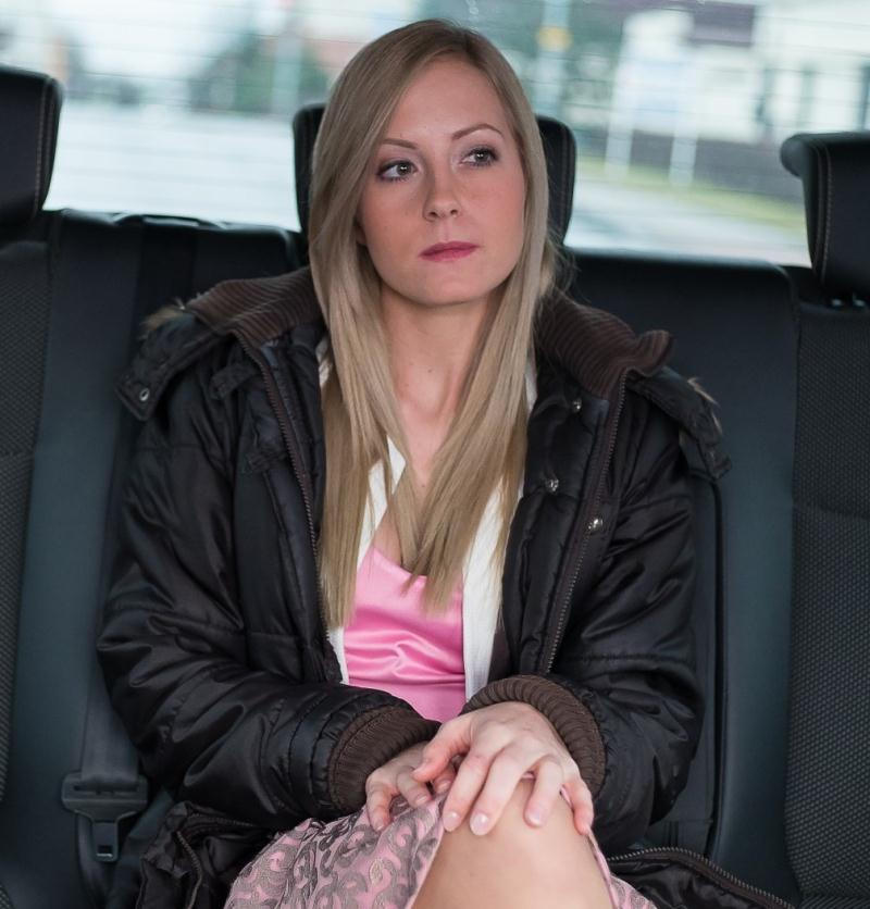 FuckedInTraffic/PornDoePremium - Sicilia [Sexy Hungarian blondie Sicilia gets cum on ass in the backseat of the car] (HD 480p)