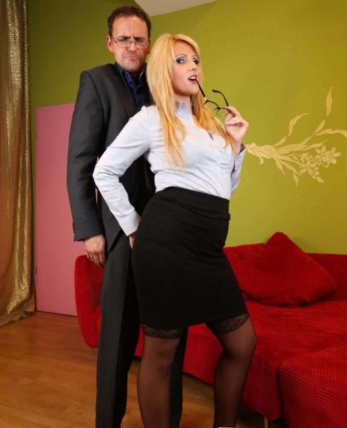 Relaxxxed/PornDoePremium: Tatjana Young - Busty blonde German secretary fucks two co-workers in naughty office affair  [HD 720p]  (Massage)