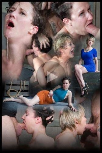 SexuallyBroken.com [Bonnie Day & Dee Williams both bound and cumming on a sybian while brutally face fucked!] HD, 720p