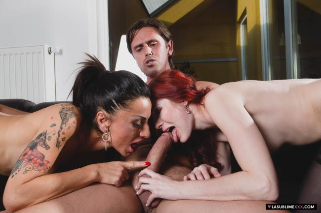 Lasublimexxx: Kattie Gold, Priscilla Salerno - Hot threesome in Praga (FullHD/2017)