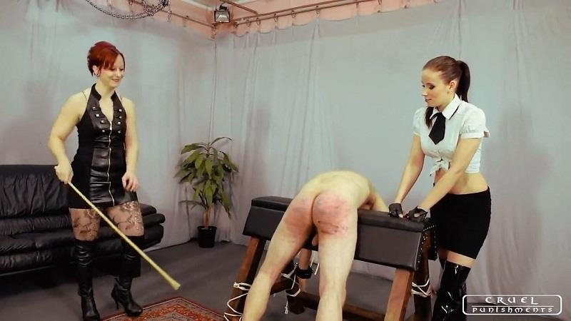 (Femdom / MP4) Lady Anette and Lady Maggie - Admirer's Punishment CruelPunishments.com - HD 720p