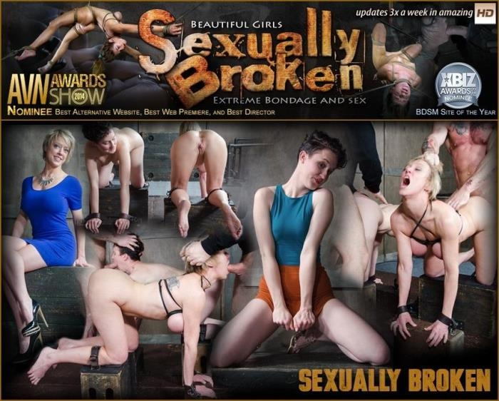SexuallyBroken.com - Bonnie Day & Dee Williams are tag teamed to destruction. Both girls are roughly fucked to the ground [SD, 540p]