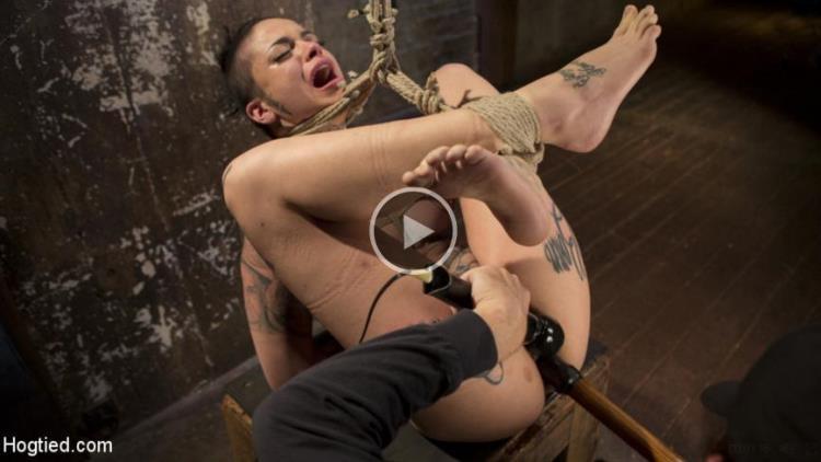 Leigh Raven - Tattooed Pain Slut Endures Brutal Bondage with Agonizing Torment / 02.03.2017 [Kink, Hogtied / SD]