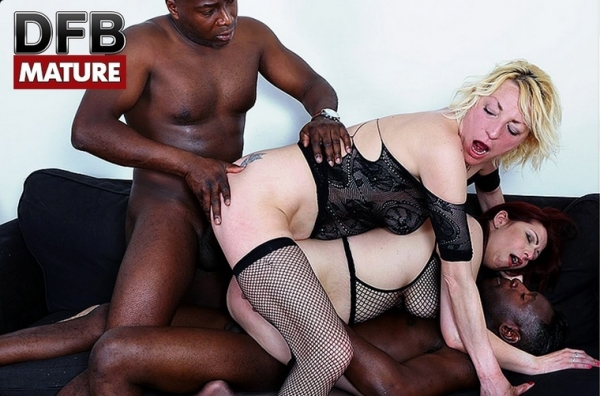 DFBPorn: Adriana Love, Laila Fereschte - Group interracial sex in mature porn [2017/HD]