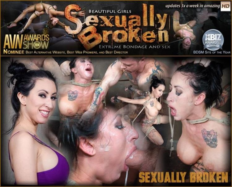 Lily lane is destroyed by a brutal face fucking, while being made to cum over and over! [SexuallyBroken / SD]