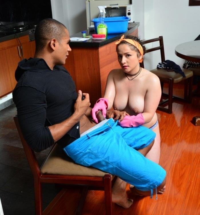 Valeria Cardozo - Sultry Colombian maid gives POV blowjob and gets banged hard  [HD 720p]